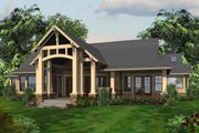 Craftsman Style House Plan - 3 Beds 2.5 Baths 3780 Sq/Ft Plan #132-207 Exterior - Rear Elevation