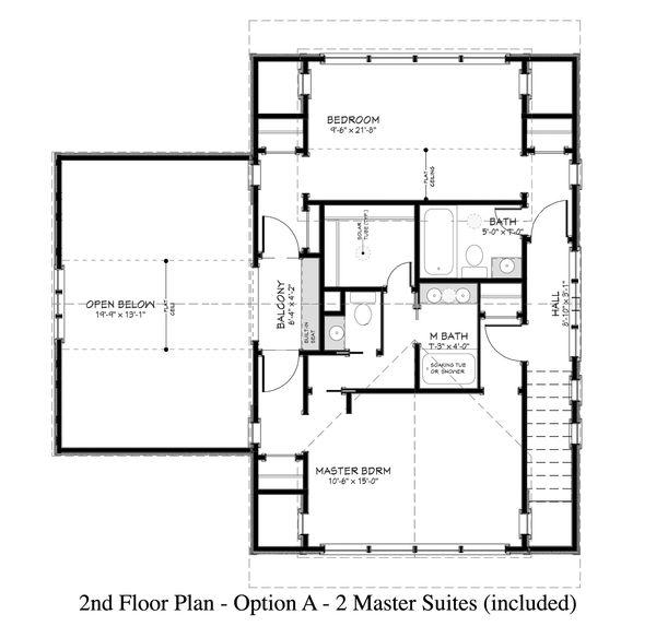 Country Floor Plan - Upper Floor Plan Plan #917-13