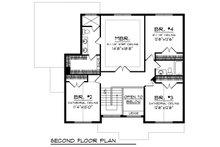Craftsman Floor Plan - Upper Floor Plan Plan #70-1218