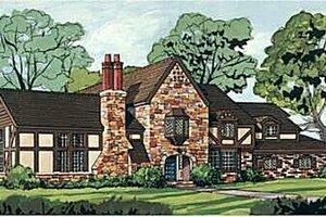 Tudor Exterior - Front Elevation Plan #12-123