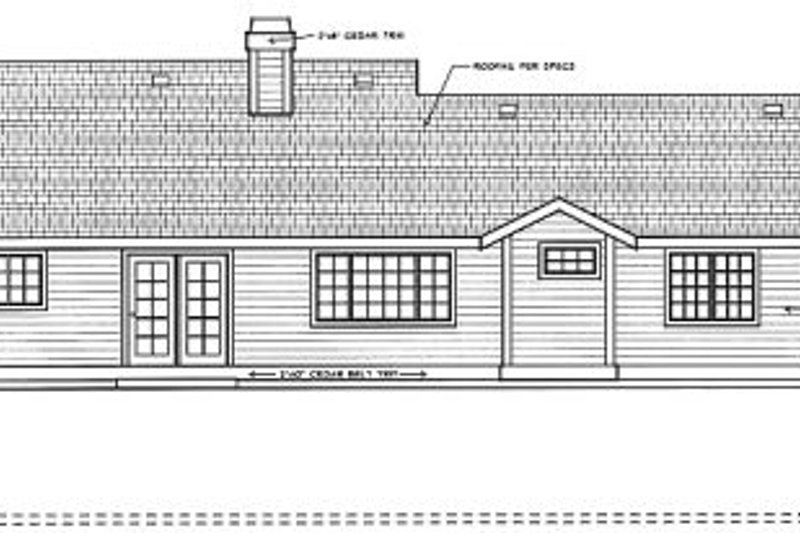Traditional Exterior - Rear Elevation Plan #91-108 - Houseplans.com