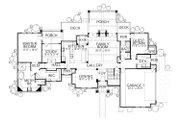 Craftsman Style House Plan - 4 Beds 3.5 Baths 3760 Sq/Ft Plan #80-205 Floor Plan - Main Floor Plan