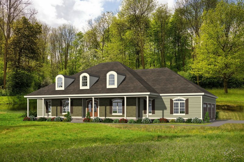 Home Plan - Country Exterior - Front Elevation Plan #932-320