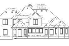 Architectural House Design - European Exterior - Rear Elevation Plan #20-1705