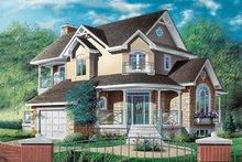 Home Plan Design - European Exterior - Front Elevation Plan #23-291