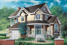 Home Plan - European Exterior - Front Elevation Plan #23-291