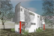 Modern Style House Plan - 3 Beds 2.5 Baths 2111 Sq/Ft Plan #450-6 Exterior - Other Elevation