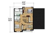 Contemporary Style House Plan - 3 Beds 1 Baths 1464 Sq/Ft Plan #25-4313 Floor Plan - Upper Floor Plan