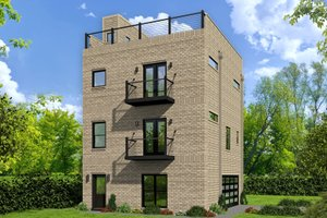 Contemporary Exterior - Front Elevation Plan #932-213