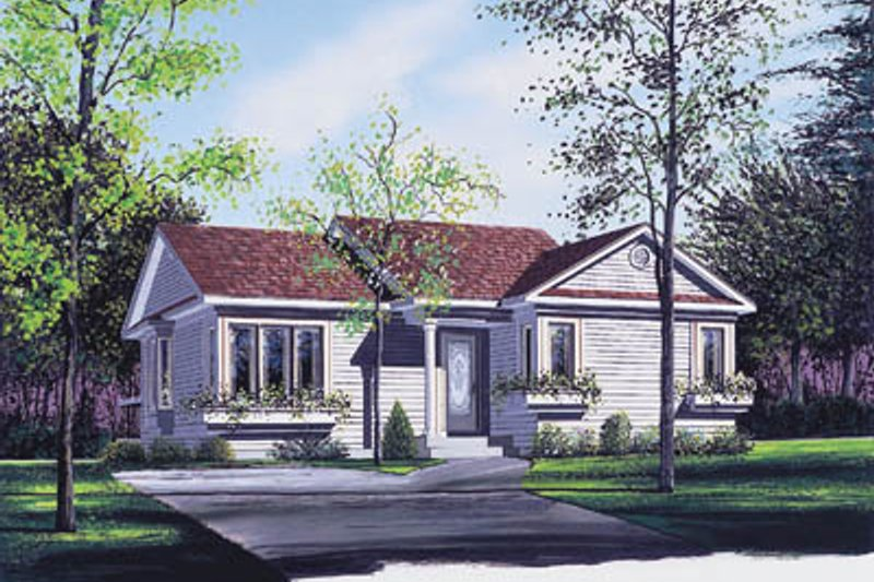 Home Plan - Traditional Exterior - Front Elevation Plan #23-169