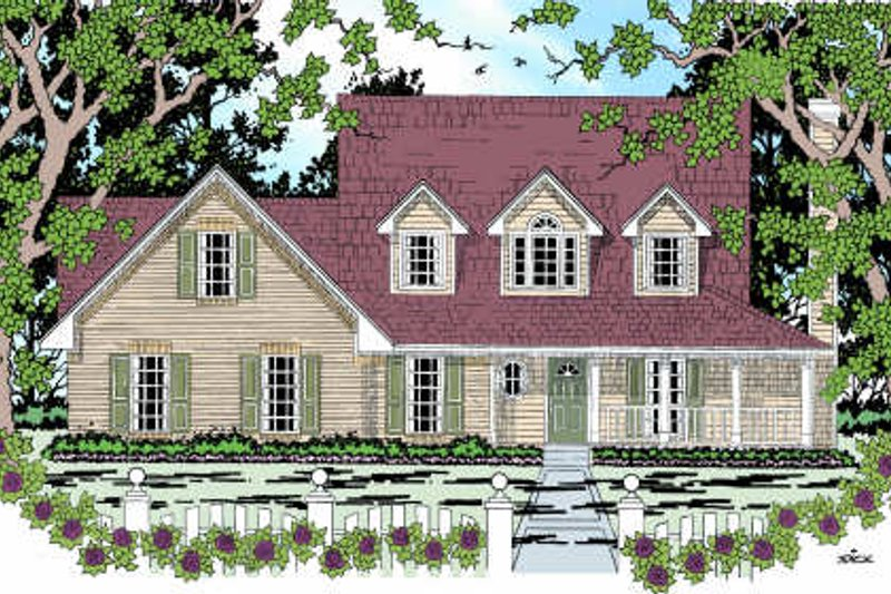 Architectural House Design - Farmhouse Exterior - Front Elevation Plan #42-349