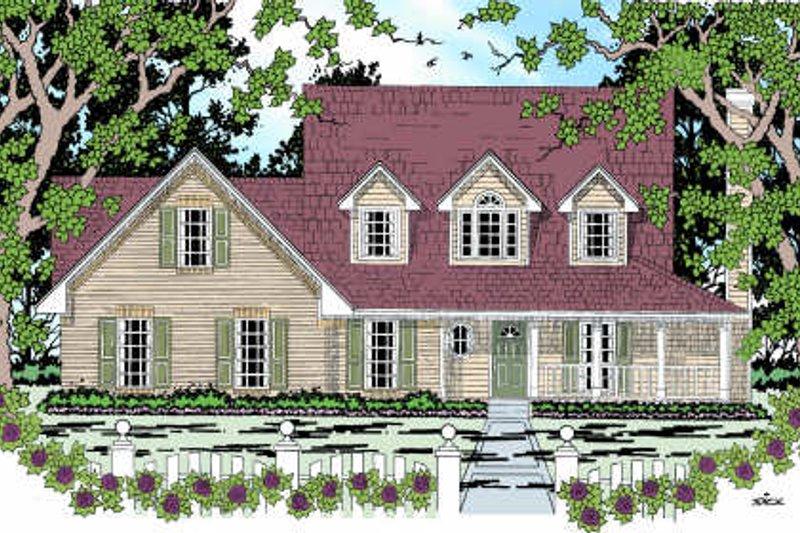 Dream House Plan - Farmhouse Exterior - Front Elevation Plan #42-349