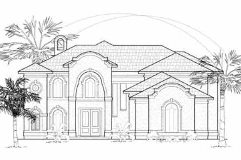 Traditional Exterior - Front Elevation Plan #61-281 - Houseplans.com
