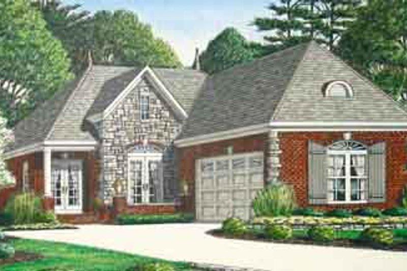 Dream House Plan - European Exterior - Front Elevation Plan #34-196