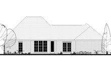 Country Exterior - Rear Elevation Plan #430-173