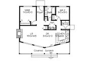 Cottage Style House Plan - 2 Beds 1 Baths 884 Sq/Ft Plan #126-215