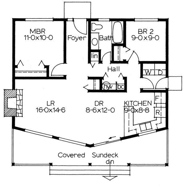 Cottage Floor Plan - Main Floor Plan #126-215