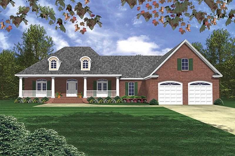 Southern Exterior - Front Elevation Plan #21-230