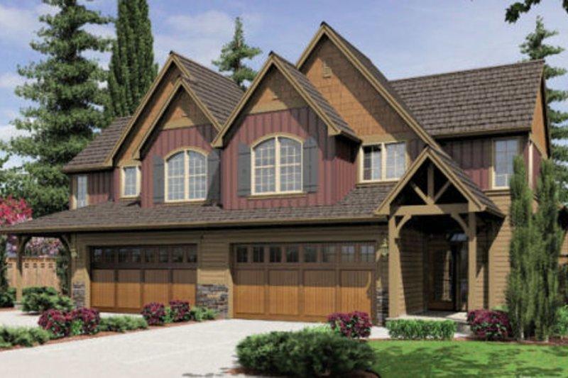 Craftsman Exterior - Front Elevation Plan #48-368 - Houseplans.com