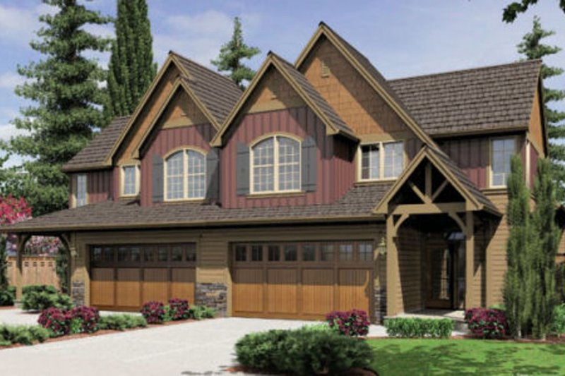 Craftsman Style House Plan - 3 Beds 2.5 Baths 1945 Sq/Ft Plan #48-368 Exterior - Front Elevation