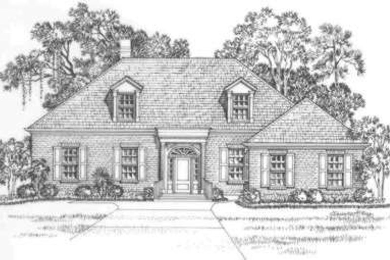 Southern Exterior - Front Elevation Plan #325-245