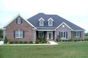 European Style House Plan - 4 Beds 3 Baths 2405 Sq/Ft Plan #17-2060 Exterior - Front Elevation