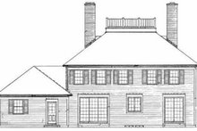 Colonial Exterior - Rear Elevation Plan #72-360