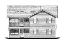 House Blueprint - Traditional Exterior - Rear Elevation Plan #18-270
