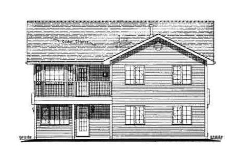Traditional Exterior - Rear Elevation Plan #18-270 - Houseplans.com