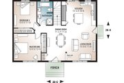 Cottage Style House Plan - 2 Beds 1 Baths 1064 Sq/Ft Plan #23-691 Floor Plan - Main Floor Plan