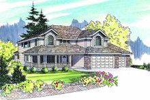 Dream House Plan - Traditional Exterior - Other Elevation Plan #124-479