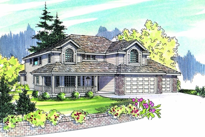Traditional Exterior - Other Elevation Plan #124-479 - Houseplans.com