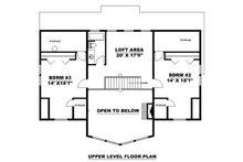 Craftsman Floor Plan - Upper Floor Plan Plan #117-886