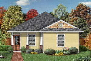 Cottage Exterior - Front Elevation Plan #84-450