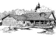Country Style House Plan - 3 Beds 2.5 Baths 2180 Sq/Ft Plan #60-329 Exterior - Front Elevation