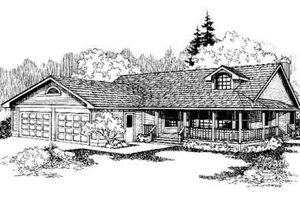 Country Exterior - Front Elevation Plan #60-329