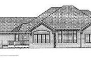 European Style House Plan - 3 Beds 2.5 Baths 2510 Sq/Ft Plan #70-403 Exterior - Rear Elevation