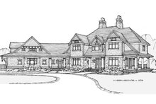 Craftsman Exterior - Front Elevation Plan #928-104
