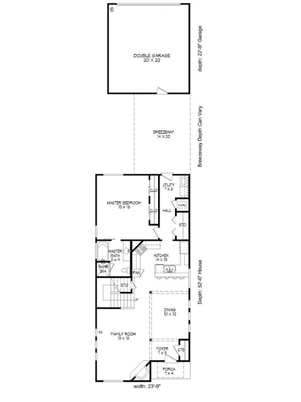 Contemporary Floor Plan - Main Floor Plan Plan #932-7
