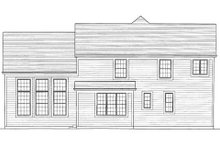 Home Plan - Traditional Exterior - Rear Elevation Plan #46-417