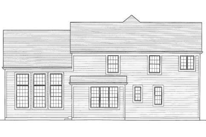Traditional Exterior - Rear Elevation Plan #46-417 - Houseplans.com