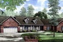 House Plan Design - Southern Exterior - Front Elevation Plan #17-159