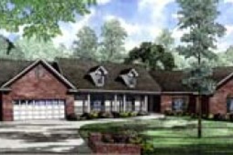 Architectural House Design - Southern Exterior - Front Elevation Plan #17-159