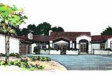 Mediterranean Exterior - Front Elevation Plan #72-151