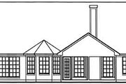 Country Style House Plan - 3 Beds 2 Baths 1747 Sq/Ft Plan #42-330 Exterior - Rear Elevation
