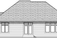 Craftsman Exterior - Rear Elevation Plan #70-824