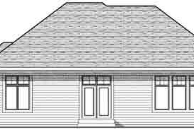 Craftsman Exterior - Rear Elevation Plan #70-824 - Houseplans.com
