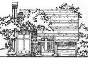 Ranch Exterior - Front Elevation Plan #320-322