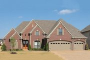 European Style House Plan - 4 Beds 3 Baths 3568 Sq/Ft Plan #81-13912 Exterior - Front Elevation