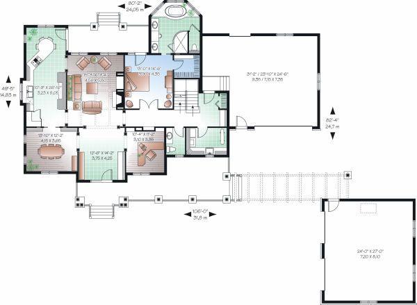 Farmhouse Floor Plan - Main Floor Plan Plan #23-830